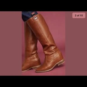 Anthropologie Brown Leather Riding Boots Sz 38